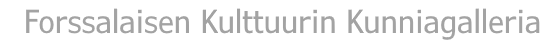 Kunniagalleria - Forssa